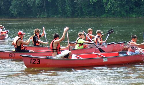 Canoeing at Junior Nature Camp