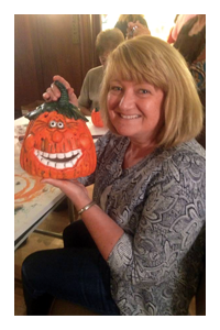ceramic jack o'lantern craft workshop