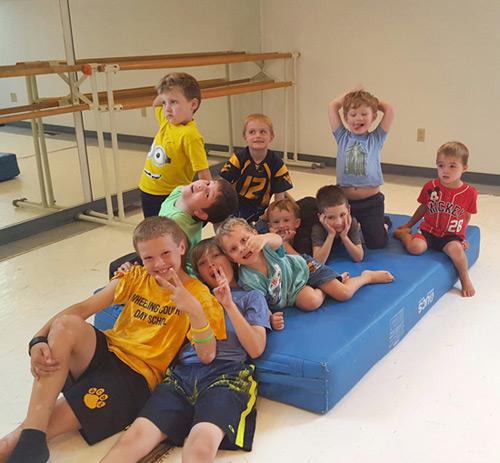 Boys tumbling class