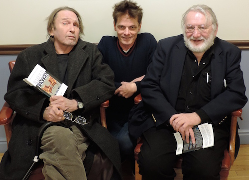 """Tom Stobart, Butch Maxwell and Michael Ramsay will perform a reading of Pinter's """"No Man's Land"""" March 4 at Towngate Theatre."""