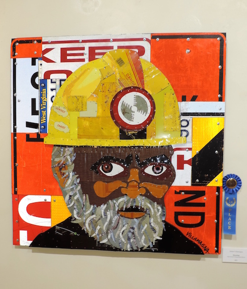 "Robert Villamagna won first place for his mixed media piece ""Moondog."""