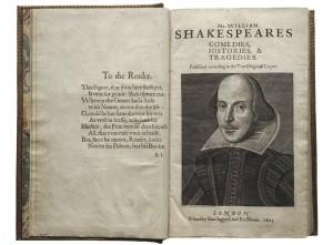 First Folio of Shakespeare
