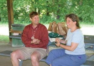 Ted Rybeck and Ellen Brodsky at Oglebay Institute's Junior Nature Camp