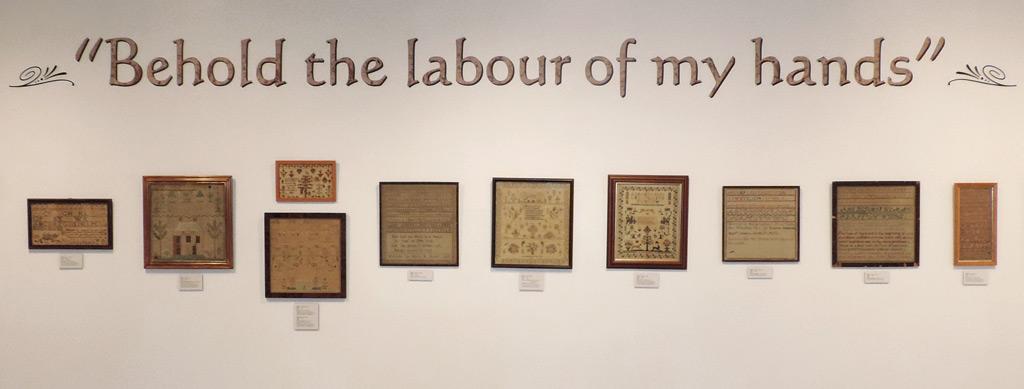 Sampler Exhibit on Display at the Mansion Museum, Oglebay