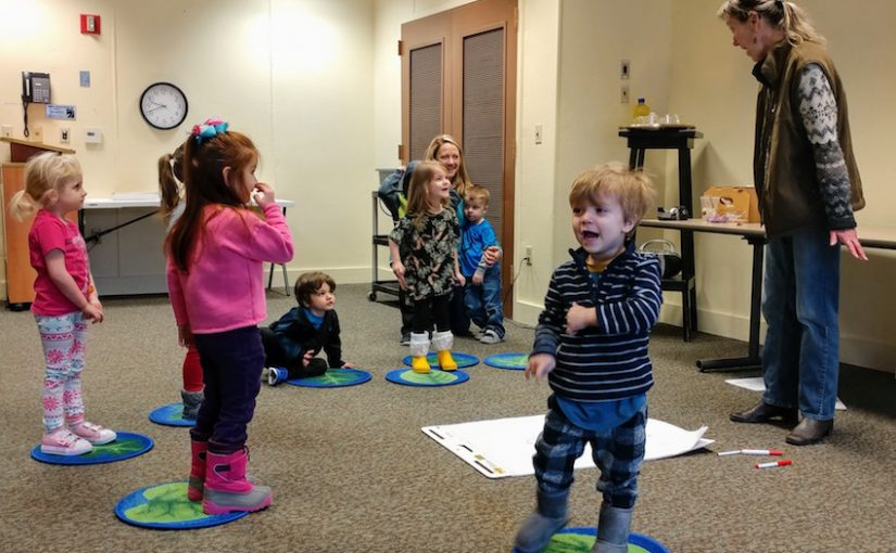 Preschools enjoy the Roots 'N Shoots program at OI's Schrader Center.