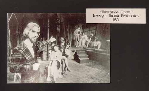 "Press photo from Towngate's 1972 production of ""Threepenny Opera."""